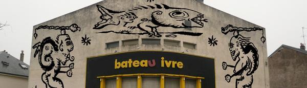 Dominique Spiessert s'approprie la façade du Bato !