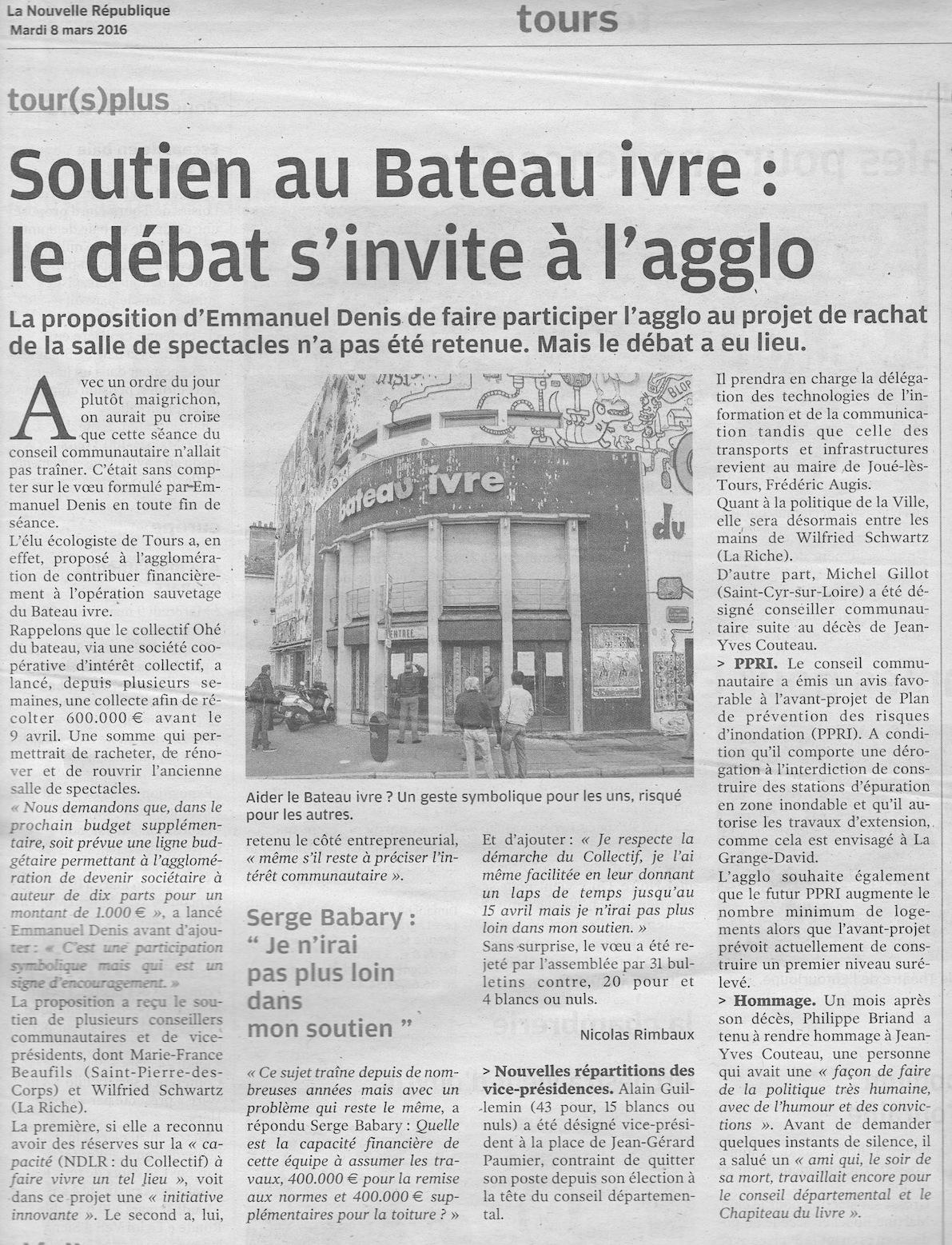 La Nouvelle République - 08/03/2016